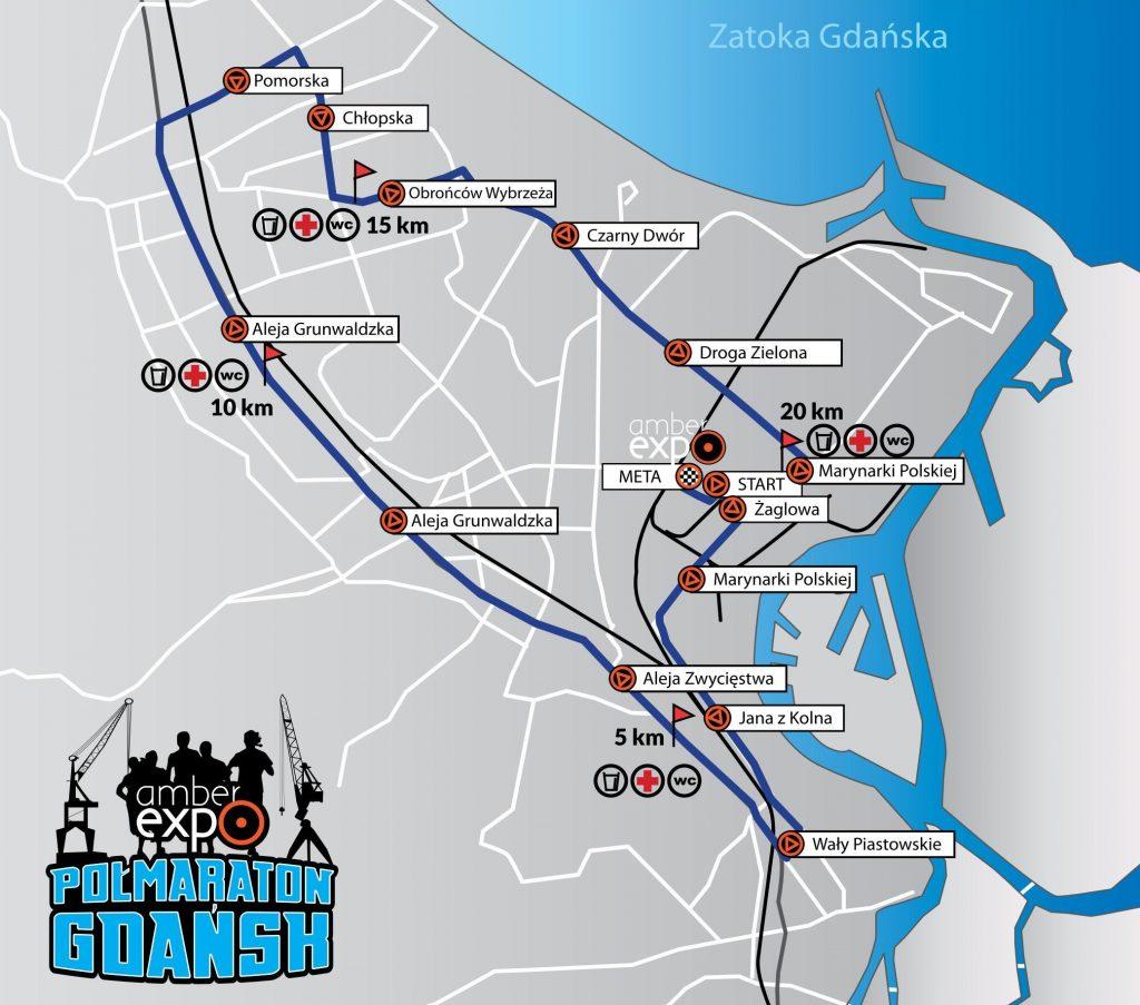 trasa gdańsk półmaraton